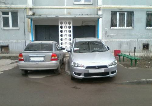 Штраф за парковку перед подъездом