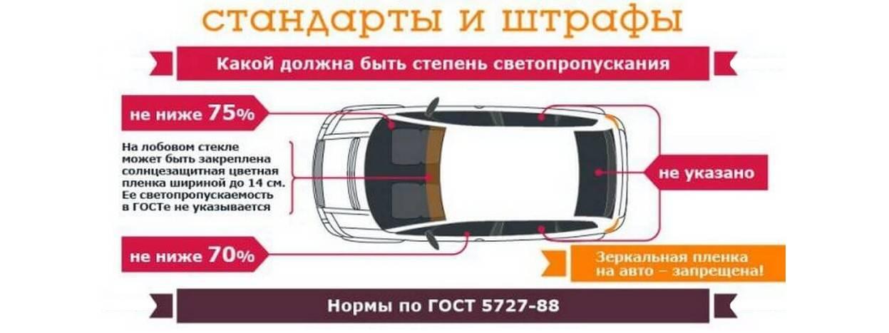 Тонировка передних стекол по ГОСТу - можно ли тонировать лобовое и боковые автостекла