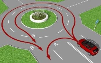 Правила проезда перекрестка с круговым движением в 2021 году